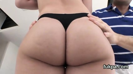 Enchanting centerfold unveils huge arse and gets ass hole shagged