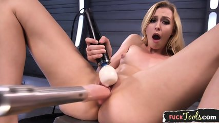Machine Loving Babe Orgasms After Dildoing