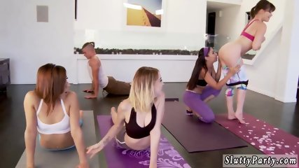 Watching my wife fuck best pal and homemade anal group Hot Sneaky Yoga
