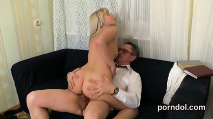 Elegant college girl was seduced and reamed by elderly teacher