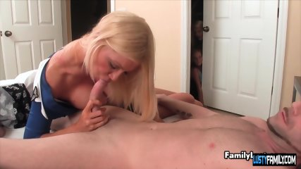 Sexy stewardess watched pleasuring her hubby