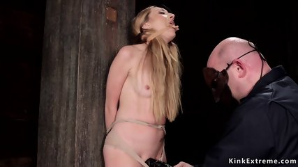 Long haired blonde pussy fucked with dick