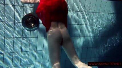 Lucie hot Russian teen in Czech pool