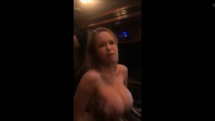 Hot milf with huge tits gets gangbanged by three guys swallows all the cum