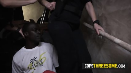 Tiny cop pussy gets fucked by huge black cock after police persecution in a warehouse. Join us