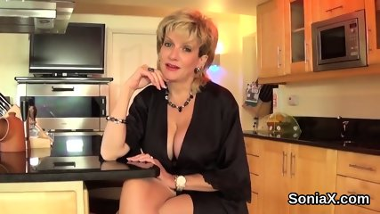 Unfaithful english mature lady sonia presents her huge boobs