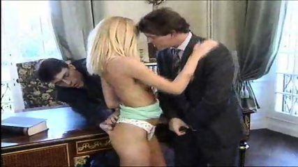 Blond Babe likes Double Penetration - scene 1