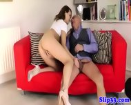 Classy British Babe Loves Old Cock