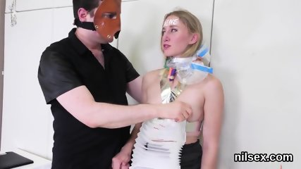 Hot chick is brought in anus asylum for awkward therapy