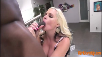 Blonde sucking cock