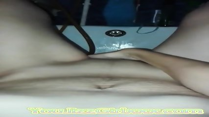 Russian post pregnant mom cumming in bathroom