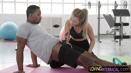 Dirty blonde pt blows her clients cock