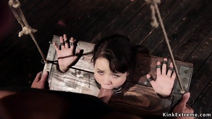 Asian spinner anal fucked in bondage