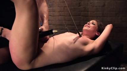 Small tits tied up babe tormented
