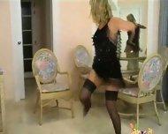 Blond stripping - scene 1
