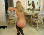 Blond stripping - scene 9