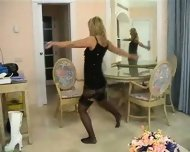 Blond stripping - scene 2