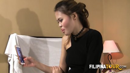 Amazing girl from the Philippines gets nailed by a huge white prick