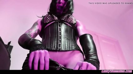 Sexy Tgirl cock on POV domination with fetish mistresse