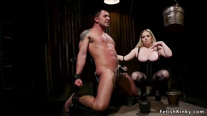Huge tits bbw domme anal fucks muscled guy