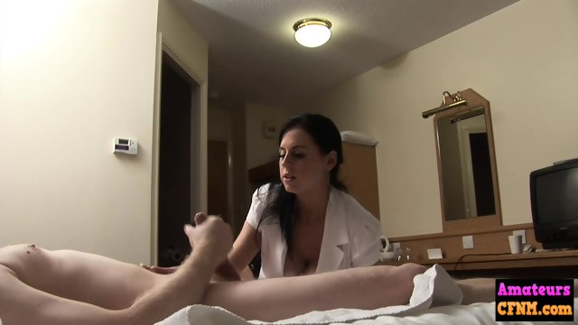 Busty femdom babe mounts cock