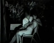 Two Asian Couples have Sex in a Park - scene 1