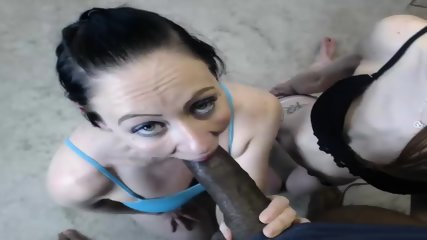 Two Girls Take Black Cock