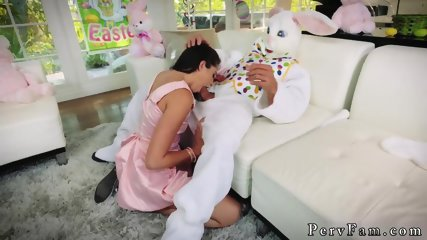 Naughty teen anal creampie first time Uncle Fuck Bunny