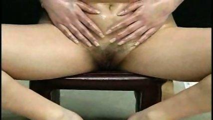 Oiled Babe doing Handjob - scene 1