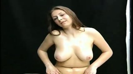 Oiled Babe doing Handjob - scene 2