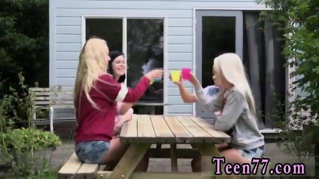 Teen seduced Horny Lesbian holiday in Holland