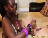 Bikini Ebony Tugs White Cock - scene 8