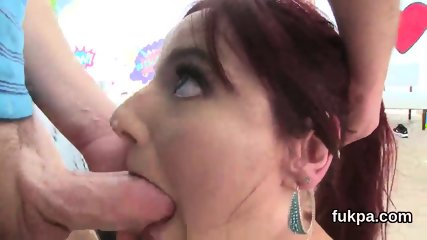 Attractive bombshell unveils big fanny and gets anal hole poked