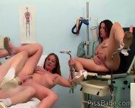 Brunette Hottie And Nurse Suck Off The Doctors Old Cock