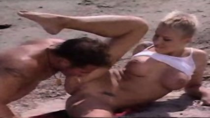 French Couple having Sex on the Beach - scene 9
