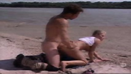 French Couple having Sex on the Beach - scene 6
