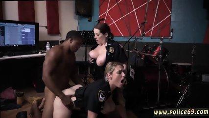 Blonde interracial cuckold Raw video grasps officer poking a deadbeat dad.