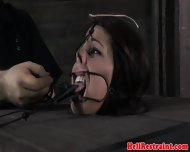 Tongue Clamped Bdsm Sub Pussy Teased