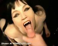 Sexy gothic Vampire gives Blowjob - scene 11