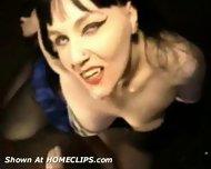 Sexy gothic Vampire gives Blowjob - scene 12