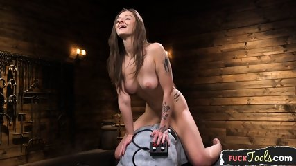 Machine Fucked Beauty Enjoys Riding Sybian