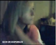 Cute Blonde on Webcam - scene 1