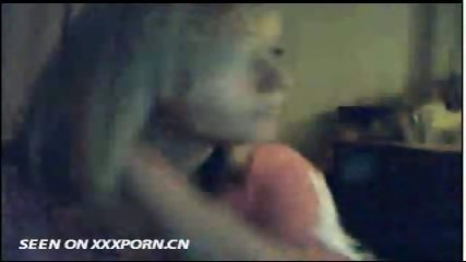 Cute Blonde on Webcam - scene 1