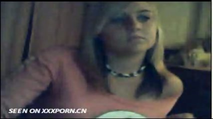 Cute Blonde on Webcam - scene 6