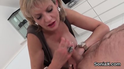 Adulterous english milf lady sonia displays her massive puppies
