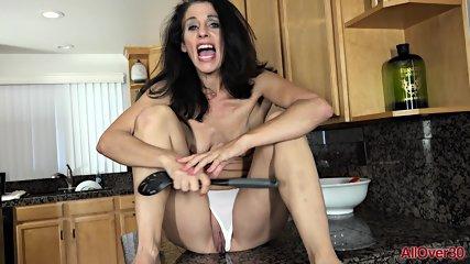 Masturbation In Kitchen