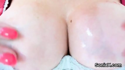 Unfaithful british milf gill ellis unveils her gigantic breasts