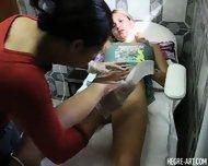Simona gets a Brazilian Waxing - scene 1