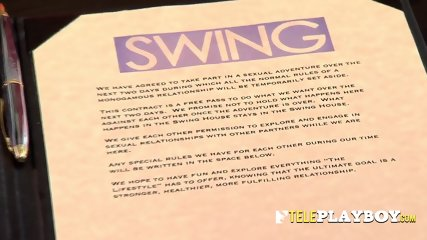 New couples signed contracts to get in their first swinger experience at the swinger mansion.