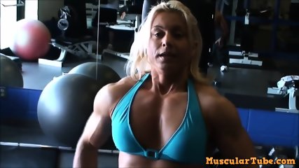 Blond with huge biceps